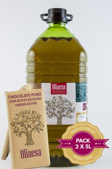 Extra Virgin Olive Oil (2 x 5L) + 3 Chocoliva
